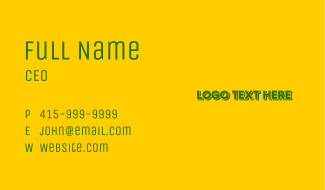 Green Landscaping Business Card