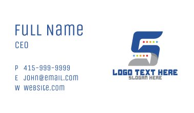 Chat Number 5 App Business Card