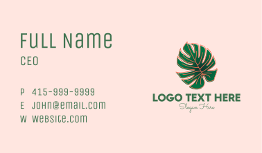 Monstera Deliciosa Plant Shop Business Card