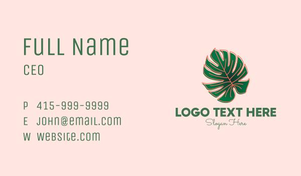 indoor plant - Monstera Deliciosa Plant Shop Business card horizontal design