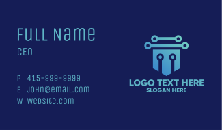 Blue Electrical Shield Business Card