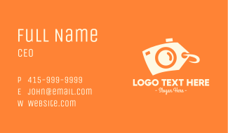 Camera Discount Price Tag Business Card