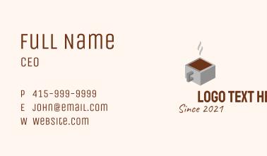 3D Cube Coffee Mug Business Card