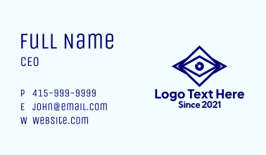 Blue Diamond Eye Business Card
