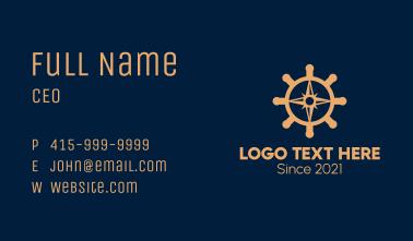 Marine Ship Compass  Business Card