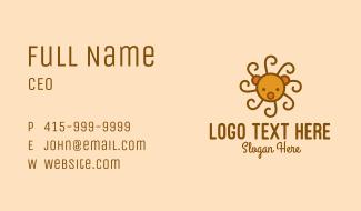 Cute Spiral Bear  Business Card