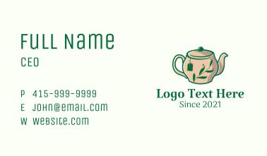 Herbal Drink Teapot Business Card