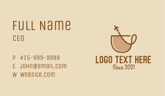 Airport Cafe Business Card