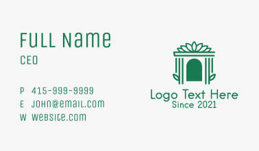 Mansion Gate Structure  Business Card