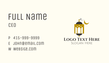 Mosque Dome Lantern Business Card
