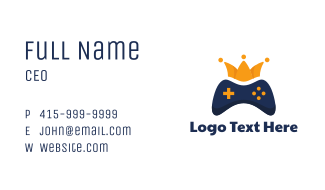 Blue Controller Crown Business Card