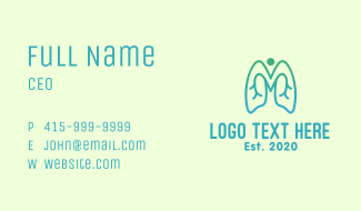Gradient Respiratory Lungs Business Card