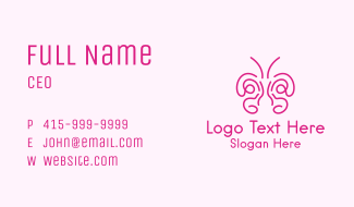 Butterfly Wings Drawing Business Card