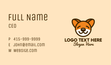 Cute Sleeping Dog Business Card