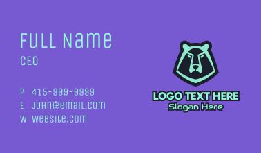 Bear Gaming Mascot Business Card