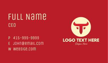 Red Bull Letter T Business Card
