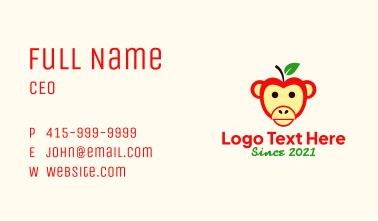 Monkey Apple Fruit Business Card