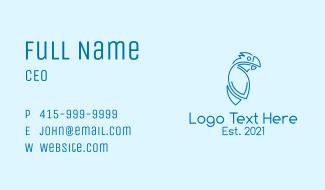 Blue Cockatoo Monoline Business Card