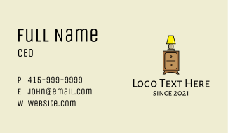 Lamp Cabinet Business Card