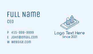 Mobile Phone Pencil Business Card