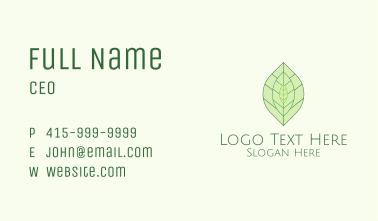 Tea Leaves Minimalist Business Card