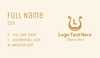 Golden Harp Letter Business Card