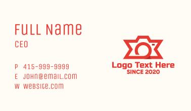 Star Digital Camera Business Card
