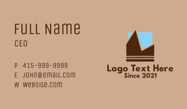 Geometric Mountain Sky  Business Card