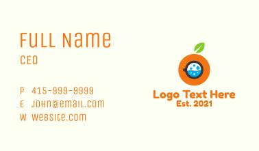 Orange Washing Machine  Business Card