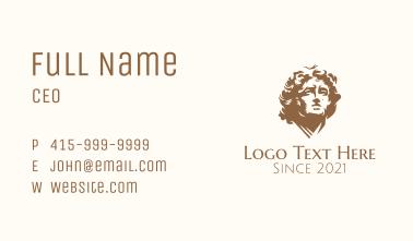 Golden Mediterranean Human Sculpture  Business Card