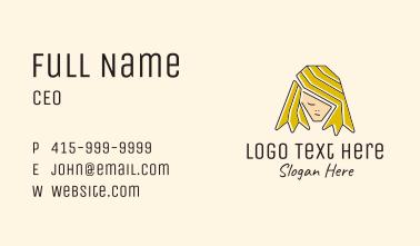 Blonde Hair Person  Business Card