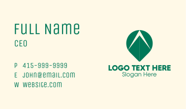 Green Arrow Tracking Business Card