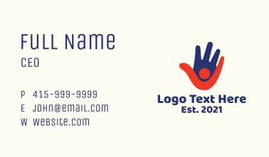 Hand Person Foundation Business Card