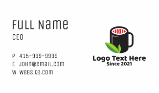 Sushi Tea Shop Business Card