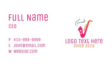 Smoking  Music Saxophone Business Card