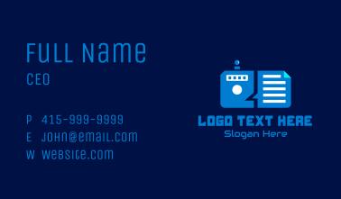 Futuristic File Manager  Business Card