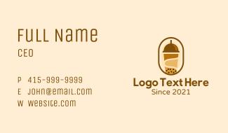 Milk Tea Tapioca Drink Business Card