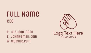 Humanitarian Charity Hand  Business Card