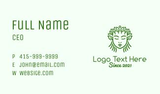 Green Organic Cosmetic  Business Card