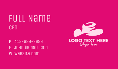 Pink Fashion Hat Business Card