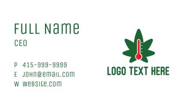 Cannabis Temperature Business Card