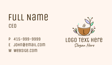 Nature Organic Cup Business Card