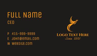 Flying Orange Phoenix Business Card