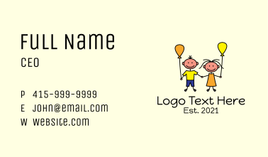 Toddler Learning Center Business Card