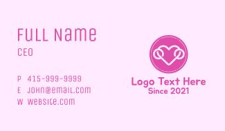 Lovely Heart Badge Business Card