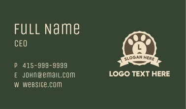 Pet Paw Letter Badge Business Card