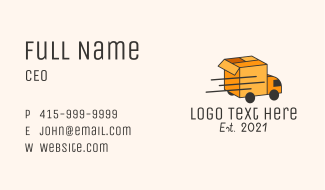 Package Delivery Truck Business Card