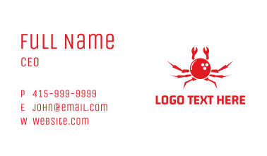 Bowling Crab Business Card