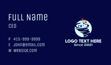 Digital Tornado Pixel  Business Card