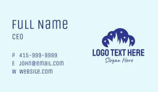 Blue Cloud Flame Business Card